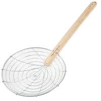 14 inch Round Bamboo-Handled Coarse Skimmer