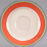 Homer Laughlin 2808083 Toulon 5 7/8 inch China Rolled Edge Broadfoot Saucer - 36/Case