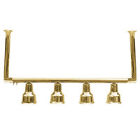 Hanson Heat Lamps 4-CM-BR 61 inch Four Bulb Ceiling Mount Food Warmer with Brass Finish - 115/230V