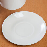 Homer Laughlin 2898000 Seville 4 1/2 inch Ivory (American White) China Imperial A.D. Saucer - 36/Case