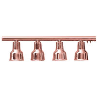 Hanson Heat Lamps 4-LB-BCOP 61 inch Four Bulb Hanging Bar Food Warmer with Bright Copper Finish - 115/230V