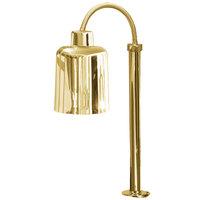 Hanson Heat Lamps SL/FM/ST/700/BR Single Bulb Flexible Mounted Streamlined Heat Lamp with Brass Finish - 115/230V