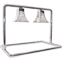 Hanson Heat Lamps MGM/500/CUSTOM/CH Dual Bulb Freestanding Food Warmer with Royal Shades and Chrome Finish - 120V