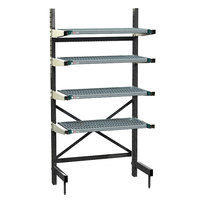 Metro SM761824-PRO-4 SmartLever Starter Unit with 4 Super Erecta Pro Shelves and Dunnage Base - 22 inch x 28 inch x 76 inch