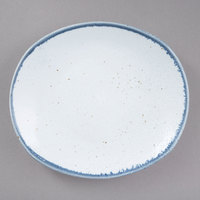 10 Strawberry Street ARCTIC-5REC Arctic Blue 6 inch Rectangular Bread and Butter Porcelain Plate - 36/Pack