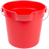 Continental 8110RD Huskee 10 Qt. Red Round Multi-Purpose Bucket