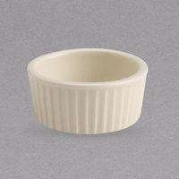 Homer Laughlin by Steelite International HL14300 2 oz. Unique Ivory (American White) Fluted China Ramekin - 72/Case