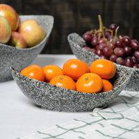 10 Strawberry Street WTR-9CANOEBWL-G Granite 8.5 oz. Porcelain Canoe Bowl   - 6/Pack