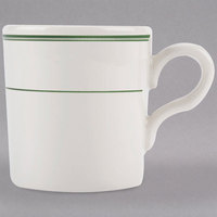 Homer Laughlin 1251 Green Band 2.75 oz. Ivory (American White) China Imperial A.D. Cup - 36/Case