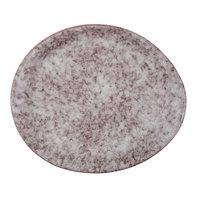 10 Strawberry Street BISEKI-10OVL-HSALT Biseki 10 inch x 8 1/2 inch Oval Himalayan Salt Stoneware Plate   - 12/Case