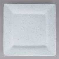 10 Strawberry Street WTR-12SQ-BS Blue Speckled 11 5/8 inch Square Porcelain Charger Plate - 6/Pack