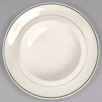 Homer Laughlin 1891 Green Band 22 oz. Ivory (American White) China Mediterranean Pasta Bowl - 12/Case