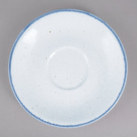 10 Strawberry Street ARCTIC-9S Arctic Blue 6 inch Round Porcelain Saucer - 36/Pack