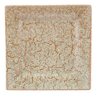 10 Strawberry Street WTR-12SQ-TE Tiger Eye 11 5/8 inch Square Porcelain Charger Plate - 6/Pack