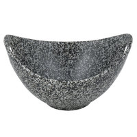 10 Strawberry Street WTR-8CUTOUTBWL-G Granite 24 oz. Porcelain Curve Bowl with Cut-Out Handles - 12/Case