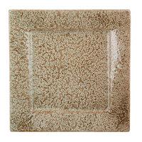 10 Strawberry Street WTR-16SQ-TE Tiger Eye 16 inch Square Porcelain Platter   - 4/Pack