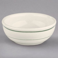 Homer Laughlin 1941 Green Band 11 oz. Ivory (American White) China Nappie Bowl - 36/Case