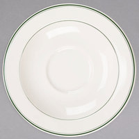 Homer Laughlin 2871 Green Band 5 1/2 inch Ivory (American White) China Steven Saucer - 36/Case