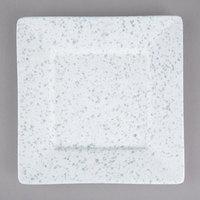 10 Strawberry Street WTR-6SQ-BS Blue Speckled 6 3/8 inch Square Porcelain Dinner Plate - 12/Pack