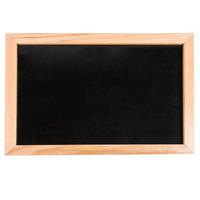 Aarco 12 inch x 18 inch Oak Frame Black Marker Board