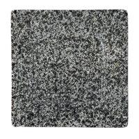 10 Strawberry Street WTR-6SQ-G Granite 6 3/8 inch Square Porcelain Dinner Plate   - 12/Pack