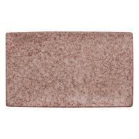 10 Strawberry Street BISEKI-10RECPLTR-HSALT Biseki 10 3/4 inch x 6 1/2 inch Rectangular Himalayan Salt Stoneware Platter - 12/Case