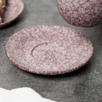 10 Strawberry Street BISEKI-9S-HSALT Biseki 6 inch Himalayan Salt Stoneware Saucer - 24/Case