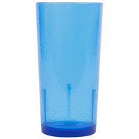 Cambro D24608 Del Mar 24 oz. Sapphire Blue Customizable Plastic Tumbler - 36/Case