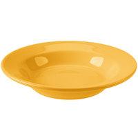 Homer Laughlin 2539518 Bosque Goldenrod 12.75 oz. China Rolled Edge Rim Soup Bowl - 24/Case