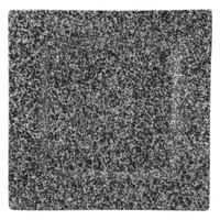 10 Strawberry Street WTR-10SQ-G Granite 10 1/8 inch Square Porcelain Dinner Plate   - 12/Pack