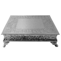 Tabletop Classics AC-777035 Nickel Plated Cake Stand - 10 1/2 inch x 14 1/2 inch