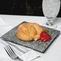 10 Strawberry Street WTR-7SQ-G Granite 7 1/4 inch Square Porcelain Dinner Plate - 24/Case