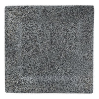 10 Strawberry Street WTR-12SQ-G Granite 11 5/8 inch Square Porcelain Charger Plate - 6/Pack