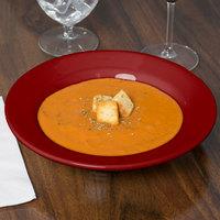Homer Laughlin 2539390 Bosque Chestnut 12.75 oz. China Rolled Edge Rim Soup Bowl - 24/Case