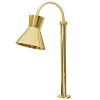 Hanson Heat Lamps SL/FM/ST/300/BR Single Bulb Flexible Mounted Streamline Heat Lamp with Brass Finish - 115/230V