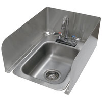 Advance Tabco K-614 3 Sided Splash for Drop in Sink - 8 inch High