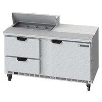 Beverage-Air SPED60HC-08-2 60 inch 1 Door 2 Drawer Refrigerated Sandwich Prep Table