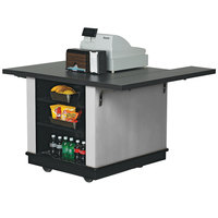 Vollrath 75679SLV V-Class Silver ACM Mobile Cashier / Merchandising Station