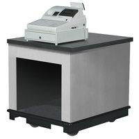Vollrath 75679SLV V-Class Silver ACM Mobile Cashier / Merchandising Station