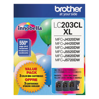 Brother LC2033PKS Innobella High-Yield Cyan / Magenta / Yellow Printer Ink Cartridges   - 3/Pack