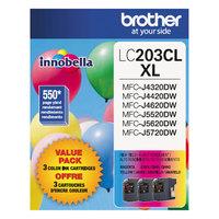 Brother LC2033PKS Innobella High-Yield Cyan / Magenta / Yellow Printer Ink Cartridges   - 3/Pack