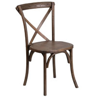 Flash Furniture XU-X-EA-GG Hercules Early American Wood Stackable Cross Back Chair