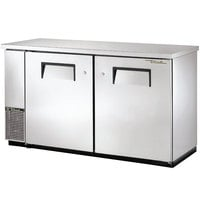 True TBB-24-60-S 61 inch Stainless Steel Back Bar Refrigerator with Solid Doors - 24 inch Deep