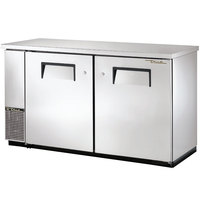True TBB-24-60-S 61 inch Stainless Steel Narrow Back Bar Refrigerator with Solid Doors