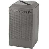 Rubbermaid DCR24P-SM Silhouettes Silver Metallic Designer Recycling Receptacle - Paper 29 Gallon (FGDCR24PSM)
