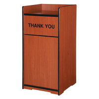 Vollrath 75726 V-Class 35 Gallon WCM Waste Receptacle Enclosure with Waste Can and Thank You Design