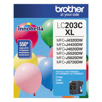 Brother LC203C Innobella High-Yield Cyan Printer Ink Cartridge