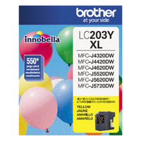Brother LC203Y Innobella High-Yield Yellow Printer Ink Cartridge