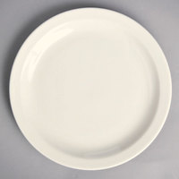 Homer Laughlin by Steelite International HL21500 Narrow Rim 8 3/4 inch Unique Ivory (American White) China Plate - 24/Case