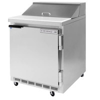 Beverage-Air SPE27HC-12M-B-23 Elite Series 27 inch 1 Door Mega Top ADA Height Refrigerated Sandwich Prep Table